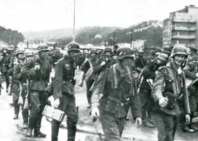 German soldiers invading Poland in 1939