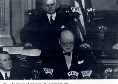 Churchill Addressing Congress