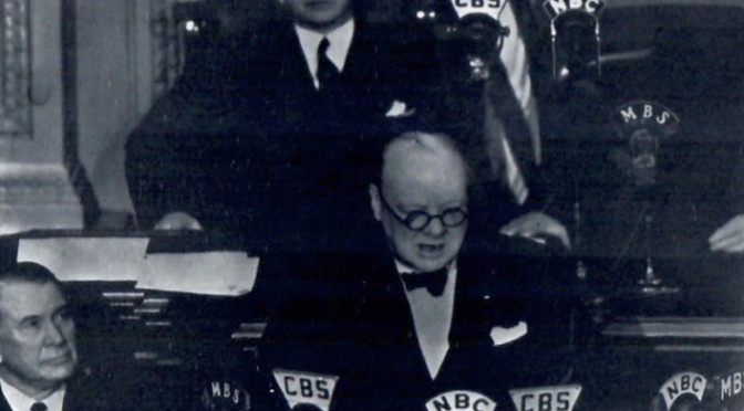 Churchill Addressing Congress