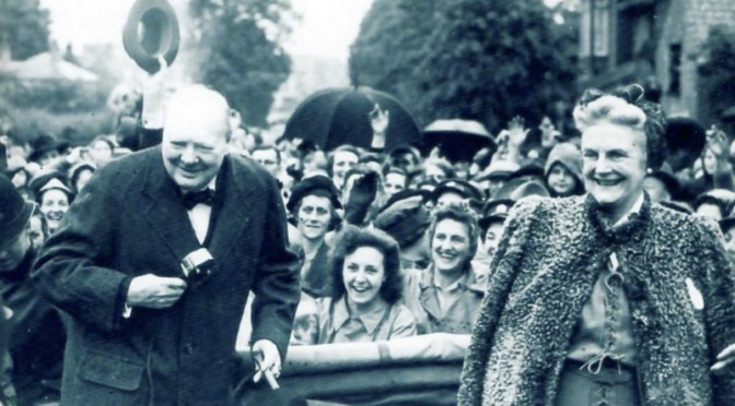 Churchill & his wife