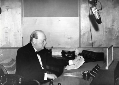 Churchill's first wartime broadcast on 1st October 1939