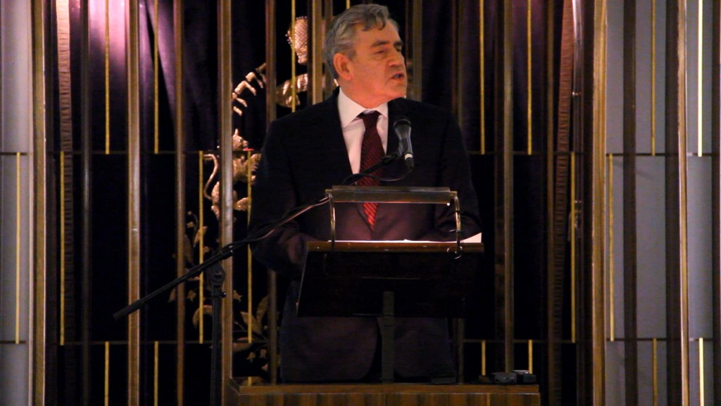 The Rt Hon Gordon Brown's tribute