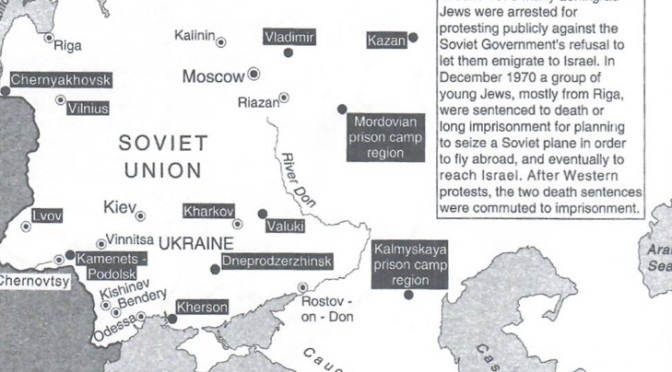 Prisoners of Zion map