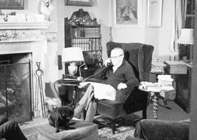 Randolph Churchill, Stour, East Bergholt, February 1965