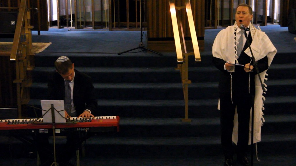Rabbi Lionel Rosenfeld, accompanied by Jason Silver