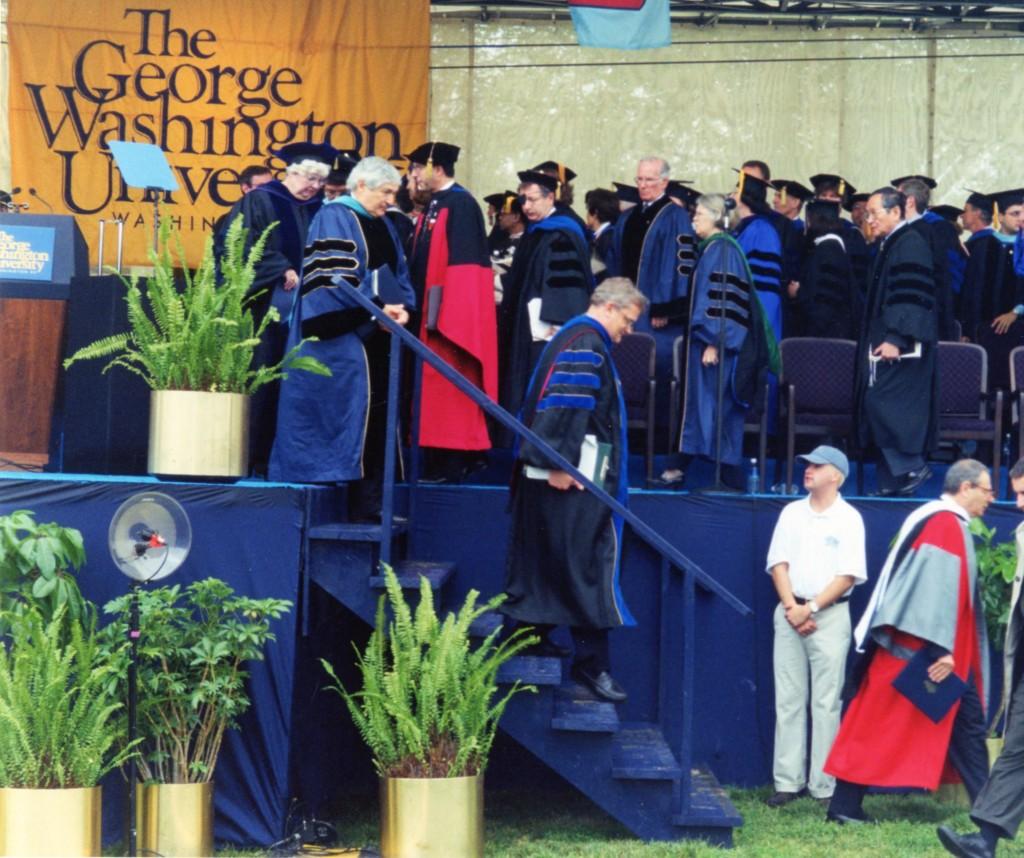 May 2000, Honorary Degree, George Washington University, Washington DC, USA