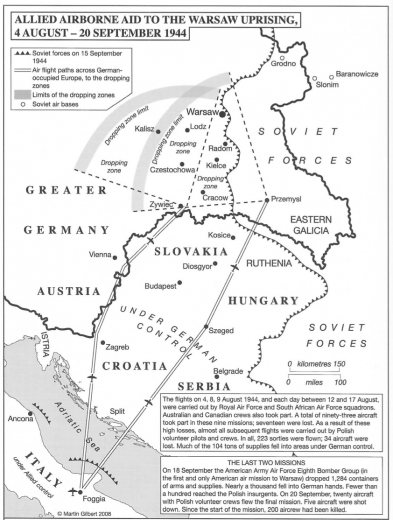 Warsaw Uprising partial map