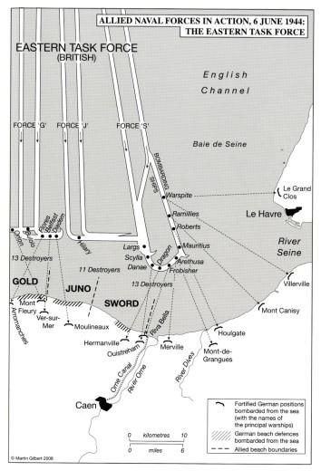 map 6 June 44 Eastern task force