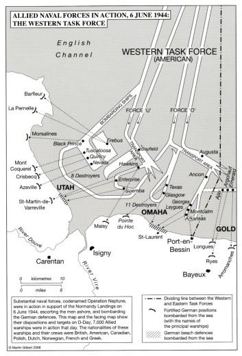 map 6 June 44 Western task force