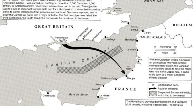 map - The Dieppe Raid