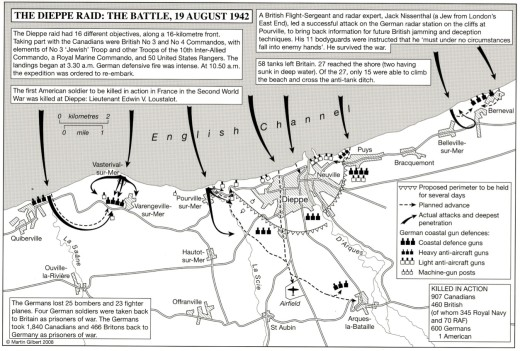 map - The Dieppe Raid - The Battle