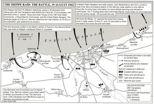 map - The Dieppe Raid - The Battle
