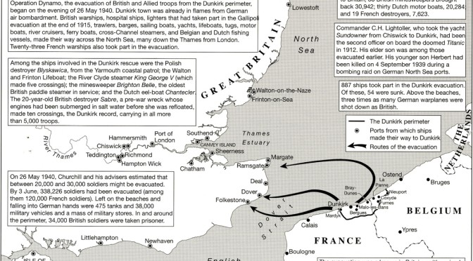 map - The Dunkirk Evacuation